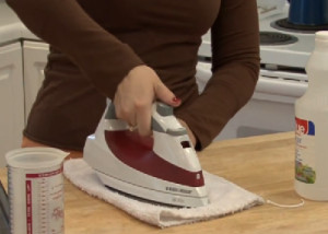 how to clean a steam iron